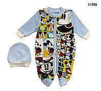 Человечек Mickey Mouse с шапочкой для мальчика. 62 см