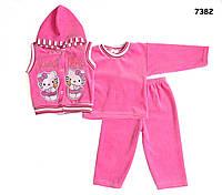 Велюровый костюм Китти для девочки. , фото 1