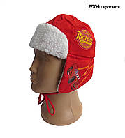 Теплая шапка Тачки Cars Disney для мальчика. 52 см
