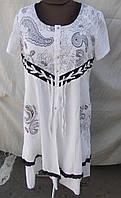 Стильное летнее белое платье - котон штапель, фото 1