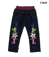 Теплые джинсы для девочки. 3, 4, 5 лет