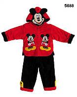 Флисовый теплый костюм Mickey Mouse для мальчика. 90 см