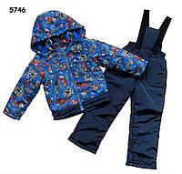 """Демисезонный костюм """"Машины"""" для мальчика. Большемерит. 80, 92 см (большемерный)"""
