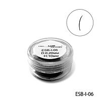Ресницы в банках ESB-I-06 (диаметр: 0,20 мм, длина: 10 мм),