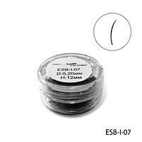 Ресницы в банках ESB-I-07 (диаметр: 0,20 мм, длина: 12 мм),