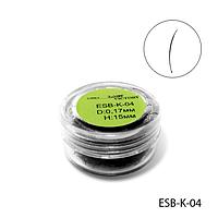 Ресницы в банках ESB-K-04 (диаметр: 0,17 мм, длина: 15 мм),