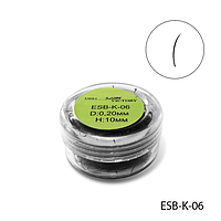 Ресницы в банках ESB-K-06 (диаметр: 0,20 мм, длина: 10 мм),