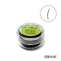 Ресницы в банках ESB-K-07 (диаметр: 0,20 мм, длина: 12 мм),