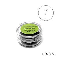 Ресницы в банках ESB-K-05 (диаметр: 0,20 мм, длина: 8 мм),