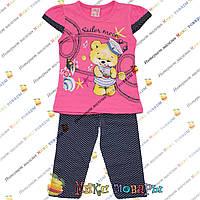 Турецкий костюм с бриджами и малиновой футболкой для девочки от 2 до 5 лет (4134-5)
