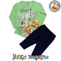 Детские костюмы туника и лосины для девочек от 1 до 4 лет (4464-5)