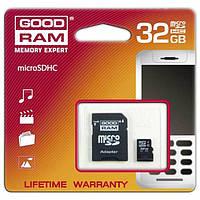 Goodram MicroSDHC 32GB Class 4+SD adapter