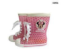 Резиновые сапоги Minnie Mouse для девочки. 17;  17.5;  18.5 см