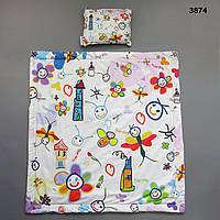 """Постельный набор """"Абстракция"""": одеяло и подушка, 80х80 см, фото 1"""