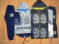 Трикотажный костюм-тройка на мальчика оптом, Seagull, 4-12 рр