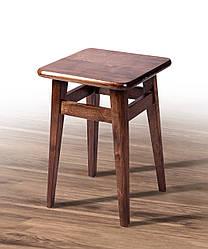 Табурет деревянный на прямых ножках темный орех (бук)