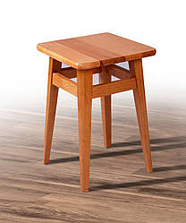 Табурет дерев'яний на прямих ніжках світлий горіх (бук)