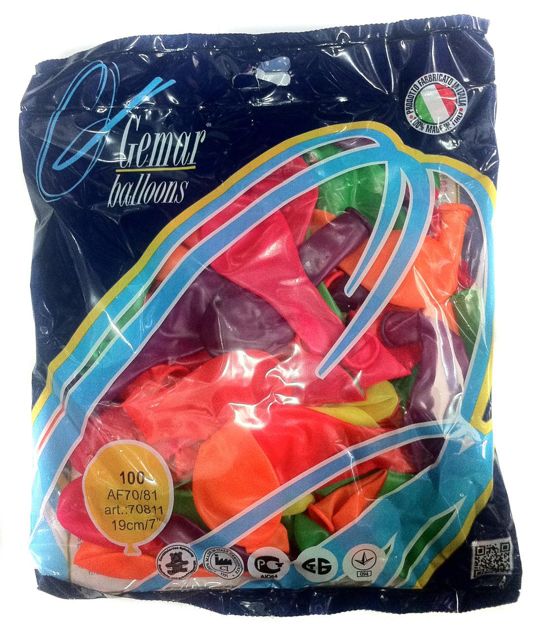 Шары надувные Gemar Balloons неон АF-70, 100шт. - Оптовая компания Почти всё в Харькове