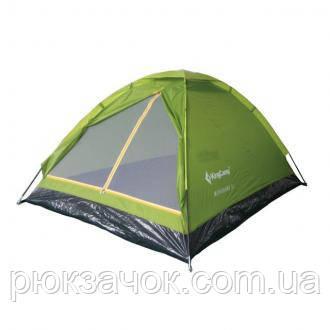 Палатка лёгкая однослойная, Палатка туристическая King Camp Monodome 3 KT 3010