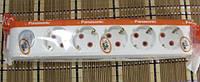 Колодка 5 гнезд с заземлением VIKO