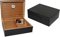Хьюмидор для 70 сигар JEMAR 7103976, испанский кедр, черный