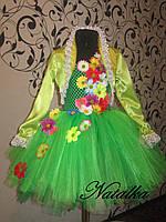 """Карнавальний костюм, юбка-платье из фатина  """"ВЕСНА"""""""