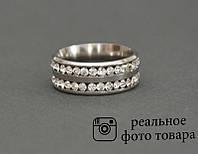 Женское кольцо из стали со стразами Размер 17 (810213) - ОПТ