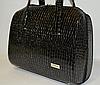 Женская сумка  VOILA черная рептилия
