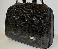 Женская сумка  VOILA черная рептилия, фото 1