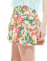 Неопреновая цветочная юбка Bershka