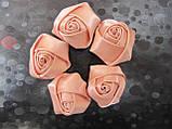 Розочки атласные, д-3,5 см 2,5/3 (цена за 1 шт. +0,5 грн.), фото 3