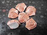 Розочки атласные, д-3,5 см 2,5/3 (цена за 1 шт. +0,5 грн.), фото 4