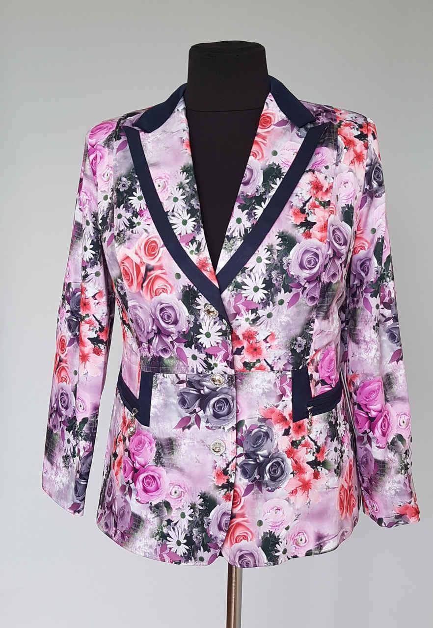 """Пиджак женский на подкладке цветочная расцветка 3 D - Интернет-магазин """"KatrinStyle"""" в Хмельницком"""