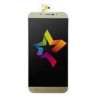 Дисплей для мобильного телефона S-TELL M555, золотой, с тачскрином, ORIG