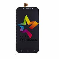 Дисплей для мобильного телефона S-TELL M555, черный, с тачскрином, ORIG