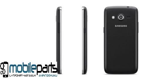 Задняя панель корпуса (крышка) для Samsung SM-G386F Galaxy Core (Качество ААА) (Черная)
