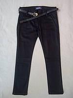 Детские школьные джинсы для девочек 5-8 лет темно синие