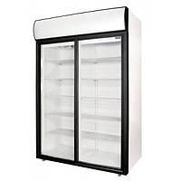Шкаф холодильный с двойной стеклянной дверью и лайт-боксом Polair (DM110Sd-S, DM114Sd-S)
