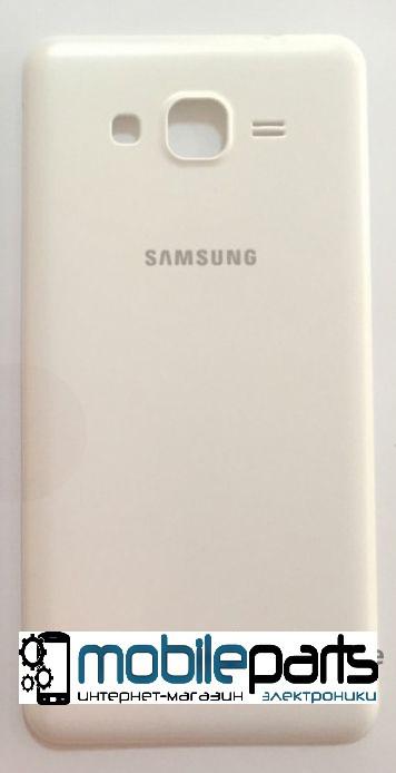 Задняя панель корпуса (крышка) для Samsung G531 Galaxy Grand Prime (Качество ААА) (Белая)