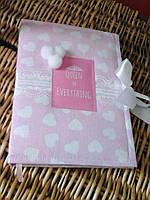 Милый розовый блокнот, ручная работа, А5, 100 листов, Handmade дневник