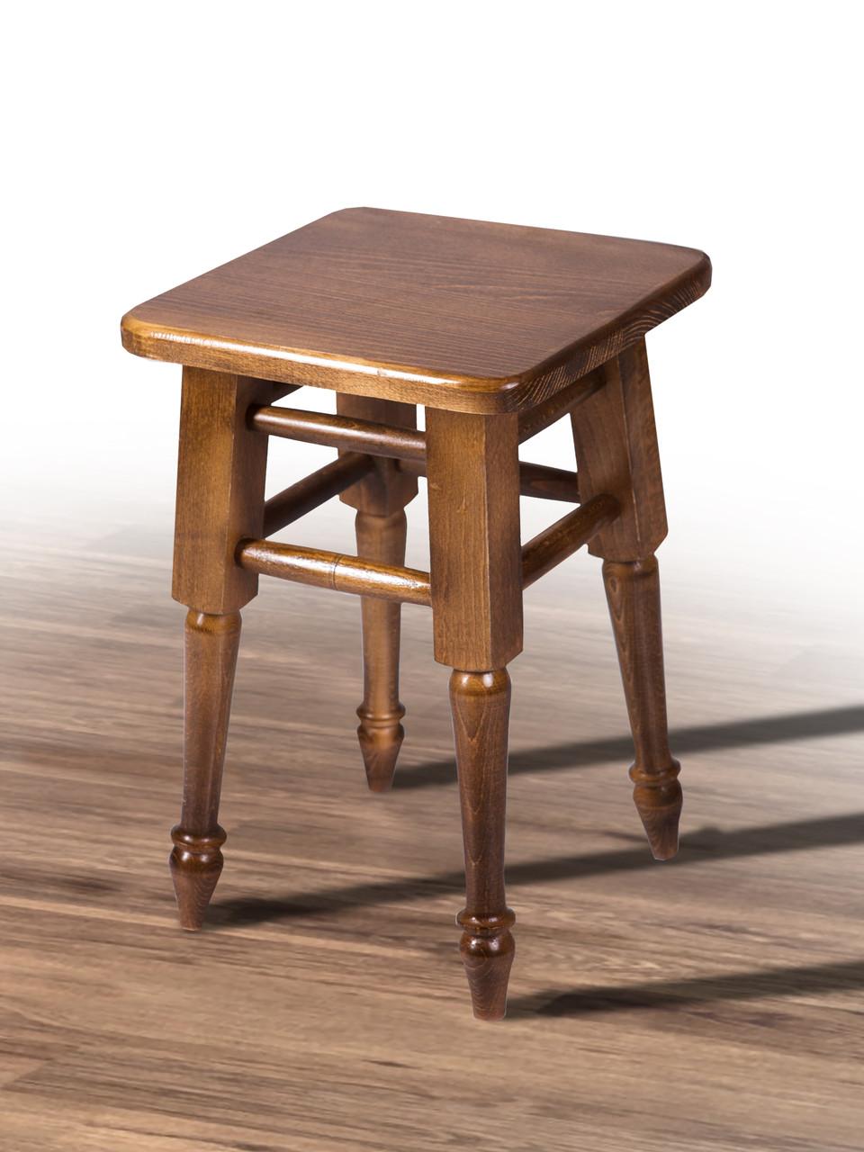 Табурет деревянный на точеных ножках орех (бук)