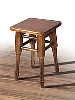 Табурет деревянный Смарт на точеных ножках орех (бук)