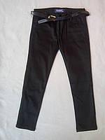 Детские школьные джинсы для девочек 9-12 лет черные-