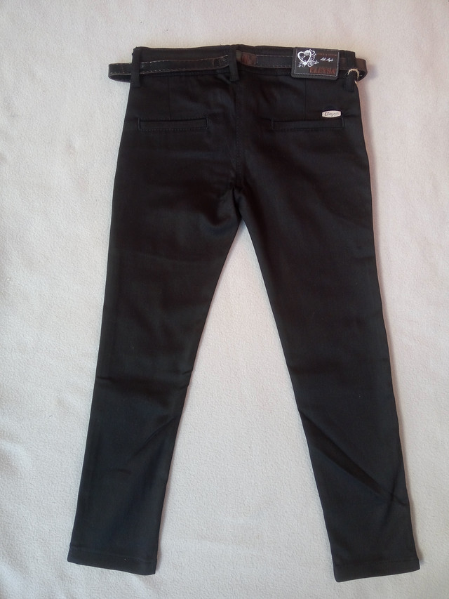 Детские школьные джинсы для девочек 9-12 лет черные