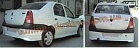 Юбка на задний бампер под покраску на Dacia Logan 2005-2008
