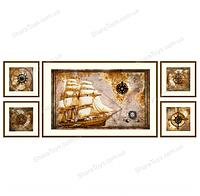 """Вышивка крестиком на канве с рисунком """"Морское путешествие"""""""