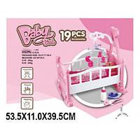 Кроватка для кукол с мобилем W0186