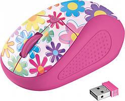 Мышка TRUST Primo Wireless Mouse Pink Flowers