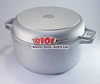 Кастрюля алюминиевая 7л с утолщенным дном и крышкой сковородкой БИОЛ К702