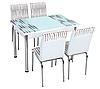"""Розкладний стіл обідній кухонний комплект стіл і стільці 3D малюнок 3д """"Кульки"""" ДСП скло 70*110 Лотос-М"""